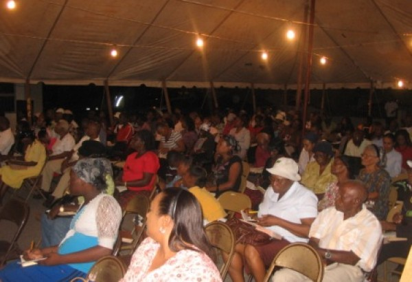 Visitors seen examining the scriptures