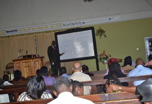 Bro Mitchell teaches congregants
